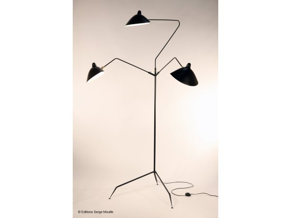 Serge Mouille, Standing lamp 3 rotating arms