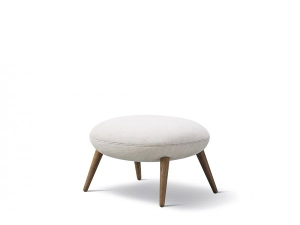 Swoon - Ottoman - reposapies - pouf - fredericia - MINIM - base de madera - blanco